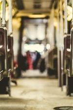 Tram, chairs, handrails, floor