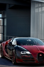 Preview iPhone wallpaper Two Bugatti Veyron Grand Sport Vitesse supercars