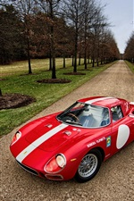 Preview iPhone wallpaper 1964 Ferrari 250 LM red supercar