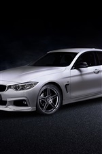 Preview iPhone wallpaper 2014 BMW 4-Series Gran Coupe F36 white car