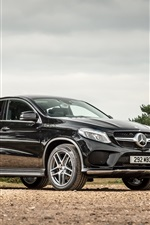 Preview iPhone wallpaper 2015 Mercedes-Benz GLE 4MATIC UK-spec C292 black car