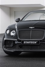 Preview iPhone wallpaper 2015 Startech Bentley Continental black car front view