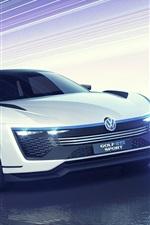 Preview iPhone wallpaper 2015 Volkswagen Golf GTE Sport concept car