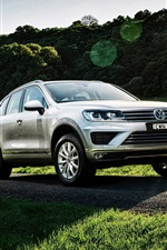 Preview iPhone wallpaper 2015 Volkswagen Touareg V6 TDI AU-spec SUV car