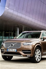 Preview iPhone wallpaper 2015 Volvo XC90 D5 brown car