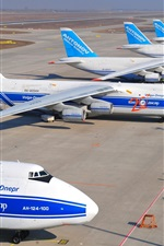 Preview iPhone wallpaper Antonov An-124-100 Ruslan, heavy transport aircraft, airport