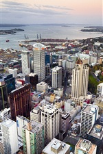 Preview iPhone wallpaper Auckland, New Zealand, city, street, buildings, coast