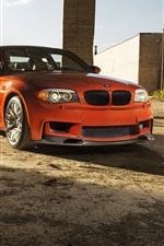 Preview iPhone wallpaper BMW 1 series, M1 E82 orange car