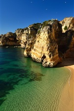 Preview iPhone wallpaper Beach, rocks, ocean, coast, mountains, cliff