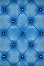 Preview iPhone wallpaper Blue leather, upholstery, texture