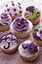 Preview iPhone wallpaper Dessert, cake, food, cream, cupcakes