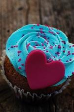 미리보기 iPhone 배경 화면 디저트, 케이크, 음식, 사랑하는 마음, 크림