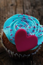 Preview iPhone wallpaper Dessert, cake, food, love heart, cream