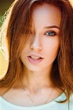 Glamour girl, portrait, light, sunset