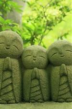 Hasedera temple, Kamakura, Japan, statues, trees