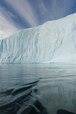 Preview iPhone wallpaper Iceberg, ice floe, sea, Arctic, cold