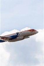 Preview iPhone wallpaper Ilyushin Il-114 passenger plane, flying, sky