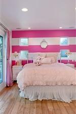 Preview iPhone wallpaper Interior design, bedroom, bed