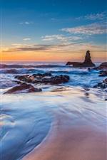 Preview iPhone wallpaper Jones Beach, Kiama Downs, New South Wales, Australia, sea, sunrise