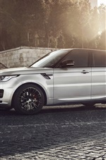 Preview iPhone wallpaper Land Rover, Range Rover, sunset