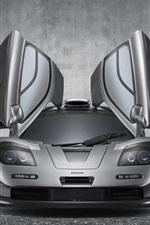Preview iPhone wallpaper McLaren F1 GT supercar, wings