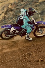 Preview iPhone wallpaper Motocross, pilot, dust, extreme sports