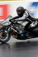 Preview iPhone wallpaper Motorcycle, drag racing, high speed