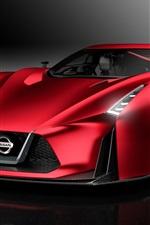 iPhone fondos de pantalla 2015 Nissan Concept 2020 Vision Gran Turismo, supercar rojo vista frontal