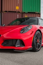 Preview iPhone wallpaper 2015 Zender Alfa Romeo 4C red supercar front view
