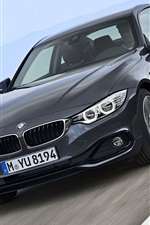 Preview iPhone wallpaper BMW fourth series black car speed