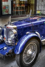 미리보기 iPhone 배경 화면 푸른 꿈, 복고 스타일, 클래식 자동차