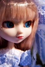 Preview iPhone wallpaper Blue skirt toys little girl