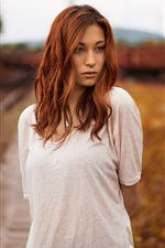 Brown hair girl, dusk