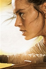 Preview iPhone wallpaper Daisy Ridley, Star Wars Episode VII: The Force Awakens