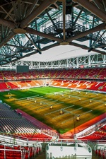 Preview iPhone wallpaper FC Spartak Stadium, football, lawn