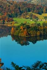 미리보기 iPhone 배경 화면 그래스 마을, Cumbria, 영국, 호수 지구, 시골, 언덕