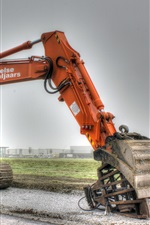 Preview iPhone wallpaper Hitachi excavator, construction machinery