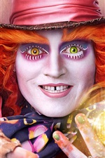 Preview iPhone wallpaper Johnny Depp, Alice Through the Looking Glass