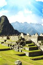 Machu Picchu, Peru, cidade perdida Inca, ruínas, viagem
