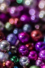 Preview iPhone wallpaper Many balls, colorful, glare
