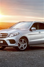 Preview iPhone wallpaper Mercedes-Benz GLE-Class W166 silver SUV car