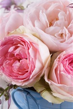Preview iPhone wallpaper Pink roses, flowers, bouquet