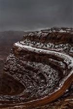 Preview iPhone wallpaper Shafer Canyon, Utah, USA, endless road