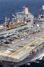 Preview iPhone wallpaper Ships, navy, USS Bataan, USNS Laramie