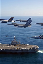 Preview iPhone wallpaper USS George Washington, fighter, sea