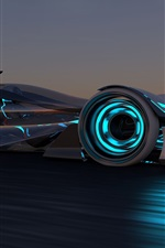Preview iPhone wallpaper 2014 Infiniti Synaptiq concept race car