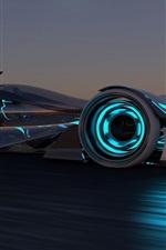 미리보기 iPhone 배경 화면 2014 인피니티 Synaptiq 개념의 자동차 경주