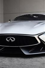iPhone fondos de pantalla 2014 Infiniti Vision Gran Turismo concepto vista frontal superdeportivo
