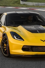 2015 Chevrolet Corvette Z06 C7.R Edition yellow supercar