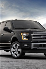 2015 Ford F-150 black jeep